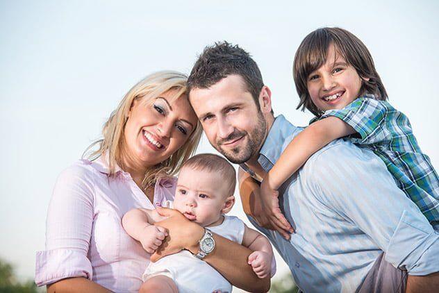 casamento de sucesso - casal com filhos